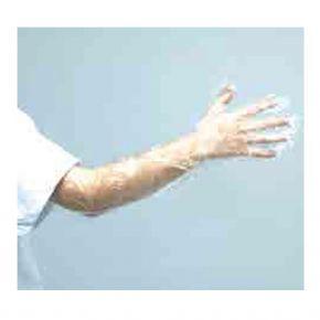 Einmalhandschuhe aus Polyethylen, glatte Oberfläche, transparent, 55cm