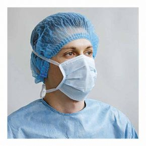 Mundschutz zum Binden, blau