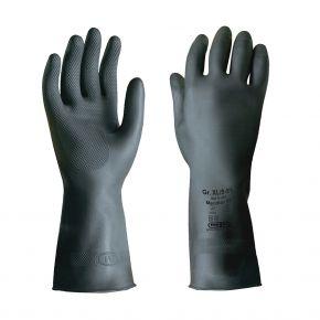 """Meridian 75"" | Latex-Schutzhandschuhe, schwarz, Stärke: 0,75mm"