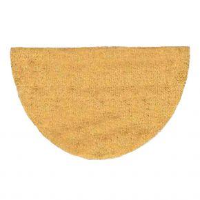 Kokosvelour-Rippenmatte ohne Druckmotiv; halbrund, natur