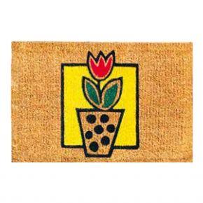 Kokosvelour-Matten - Tulpe im Blumentopf