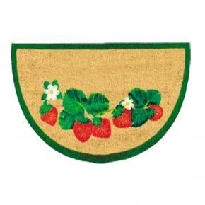 "Kokosvelour-Matte mit Druckmotiv ""Erdbeere"""