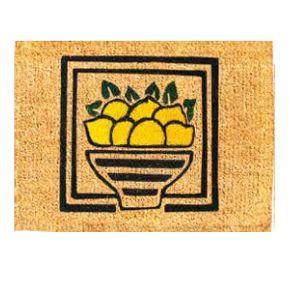 Kokosvelour-Matten - Zitronen