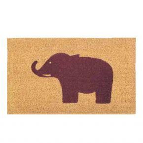 "Kokosvelour-Matte mit Druckmotiv ""Elefant"""