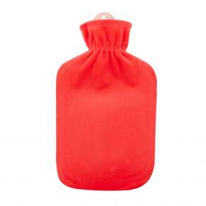 """2,0 Liter Wärmflasche mit Flauschbezug """"Koralle"""""""