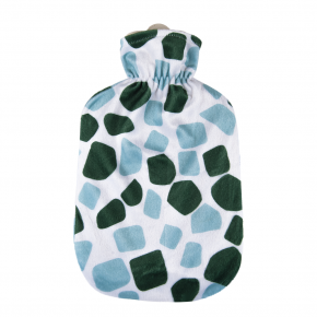 """2,0 Liter Wärmflasche mit Softvelourbezug """"Grüne Giraffe"""""""
