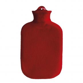 2,0 Liter Wärmflasche mit Konturbezug, rot