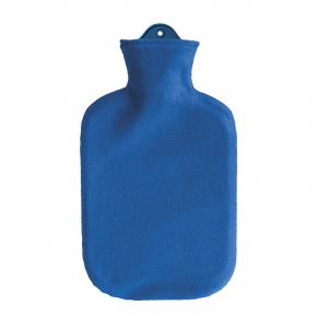 2,0 Liter Wärmflasche mit Konturbezug, blau