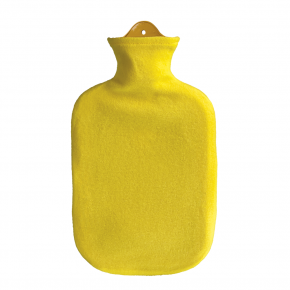 2,0 Liter Wärmflasche mit Konturbezug, gelb