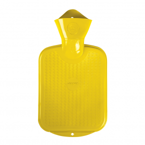 0,8 Liter Gummi-Wärmflasche, gelb