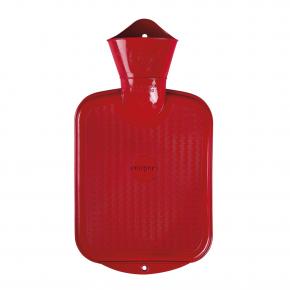 0,8 Liter Gummi-Wärmflasche, rot