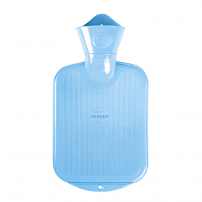 0,8 Liter Gummi-Wärmflasche, hellblau