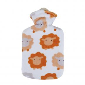 """0,8 Liter Wärmflasche mit Fleecebezug """"Schäfchenwolke"""""""