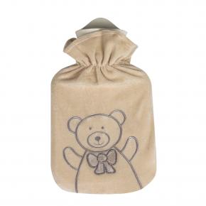 """0,8 Liter Wärmflasche mit Velourbezug """"Ted"""""""
