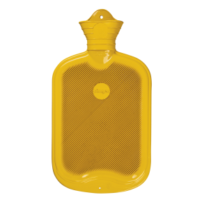 2,0 Liter Gummi-Wärmflasche, gelb