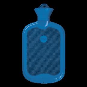 2,0 Liter Gummi-Wärmflasche, blau