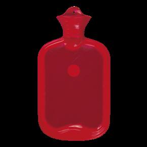 2,0 Liter Gummi-Wärmflasche, rot
