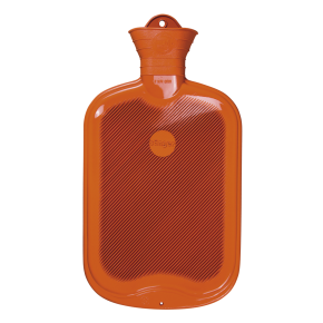 2,0 Liter Gummi-Wärmflasche, orange