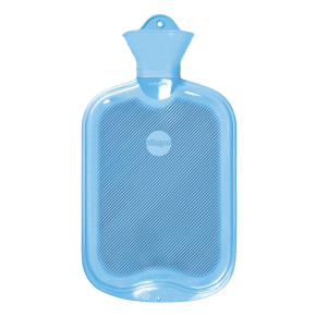 2,0 Liter Gummi-Wärmflasche, hellblau