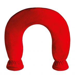 Nackenwärmflasche mit Fleecebezug, rot