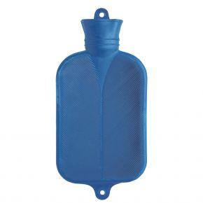 2,0 Liter Wärmflasche, blau, 38 x 20,5 cm