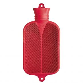 2,0 Liter Wärmflasche, rot, 38 x 20,5 cm