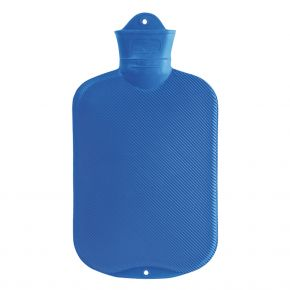 2.0 Liter Wärmflasche blau 39 x 19 cm