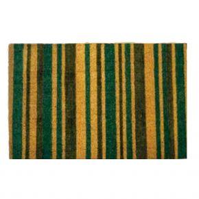 Kokosvelour-Matten - Streifen schwarz-grün