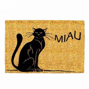 """Kokosvelour-Matte mit Druckmotiv """"Katze Miau"""""""