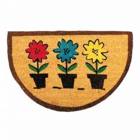 Kokosvelour Rippenmatten - 3 Blumentöpfe