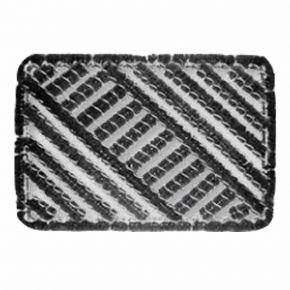 Kokos-Drahtgitter-Matte | rechteckig, schwarz