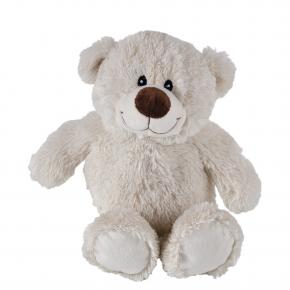 Bär Bruno, wollweiß, gefüllt mit Kirschkern, 33 cm