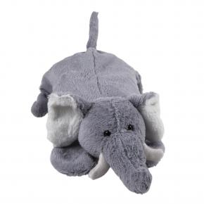 """0,8 Liter Wärmflasche mit Plüschbezug """"Elefant Taro"""", 48cm"""