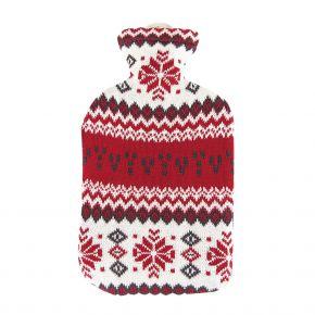 """2,0 Liter Wärmflasche mit Strickbezug aus Baumwolle """"Nordstern"""""""