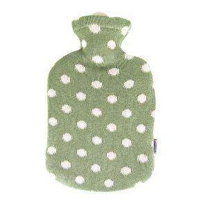 """2,0 Liter Wärmflasche mit Strickbezug aus Baumwolle """"Maigrün"""""""