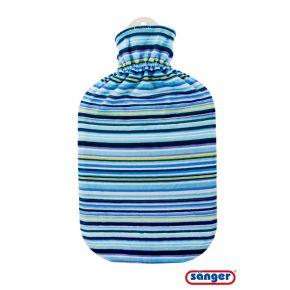 "2,0 Liter Wärmflasche mit Softvelour-/Flauschbezug ""Navy"""
