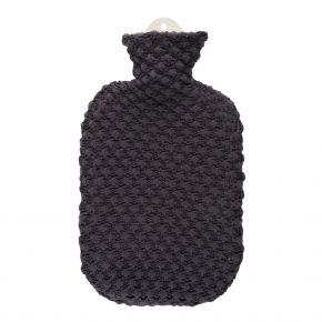 """2,0 Liter Wärmflasche mit Strickbezug aus Baumwolle """"Popcorn"""""""