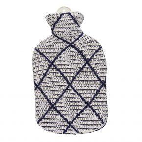"""2,0 Liter Wärmflasche mit Strickbezug aus Baumwolle """"Priya"""""""