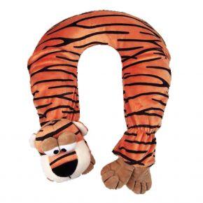 Nackenwärmflasche mit Tigerbezug, braun
