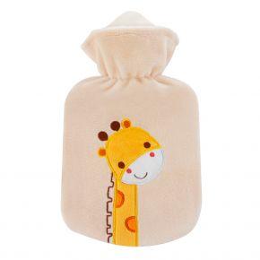"""0,8 Liter Wärmflasche mit Velourbezug """"Giraffe Zulu"""""""