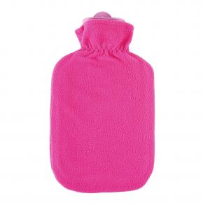 """2,0 Liter Wärmflasche mit Fleecebezug """"Kunterbunt"""", Candypink"""