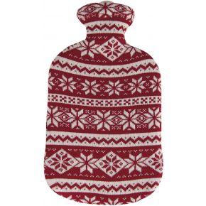 """2,0 Liter Wärmflasche mit Strickbezug aus Baumwolle """"Kristall"""""""